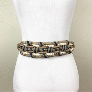 Vintage Nautical Knotted Rope Waist Belt 29""